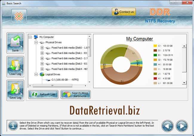 Windows 7 Windows NTFS Data Retrieval Software 4.0.1.6 full