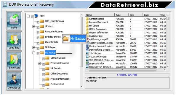Data Retrieval screenshot